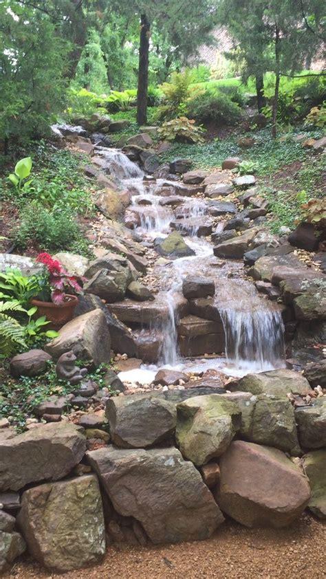 backyard waterfall pond 1034 best fish ponds waterfalls images on