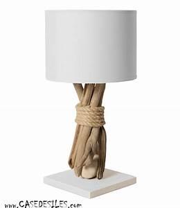 Lampe Chevet Bois Flotté : lampe galet bois flotte ~ Melissatoandfro.com Idées de Décoration
