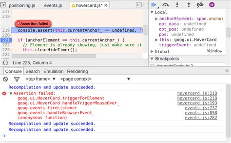 exception and error handling tools for web developers