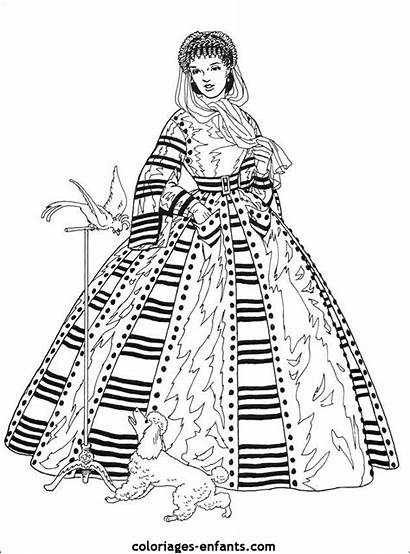 Coloring Coloriages Princesses Coloriage Pages Dresses Enfants