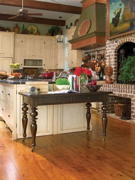 Paula's kitchen. Brick kitchen fireplace   Home