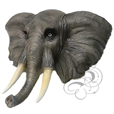 latex full head animal african elephant high quality fancy