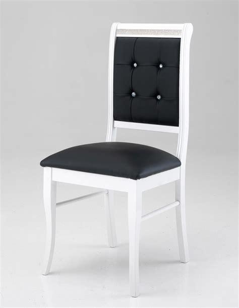 chaise salle a manger noir chaise prestige blanc noir