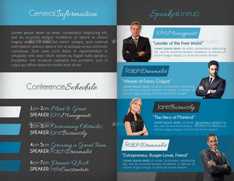 Conference Brochure Templates by 20 Conference Brochure Templates
