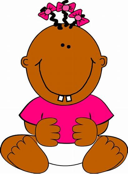 Clip Sitting Clipart Brown Smiling African American