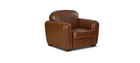 fauteuil 1 place simili cuir marron club