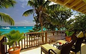 Beautiful Resort on Beach HD Wallpaper