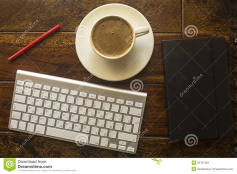computer keyboard cup  coffee  notebook  red