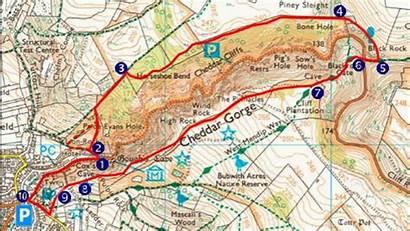 Gorge Cheddar Walk Map National Trust