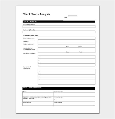 analysis template   word excel