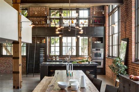 loft cuisine cuisine en acier dans un loft à san francisco