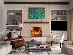 Pretty mantel shelf in Living Room Transitional with Cedar
