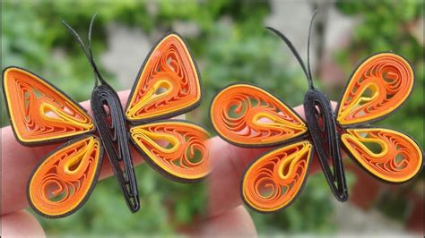 quilling simple butterfly tutorial diy paper butterfly