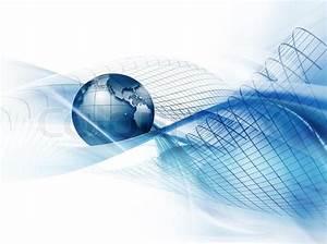 Modernen Business- Hintergrund mit der Erde auf einem ...