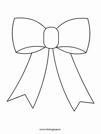 Bow Christmas Coloring Pages Template Bows Clipart
