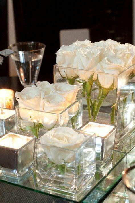 tischdeko mit kerzen hochzeitskerzen romantische warme licht archzine net