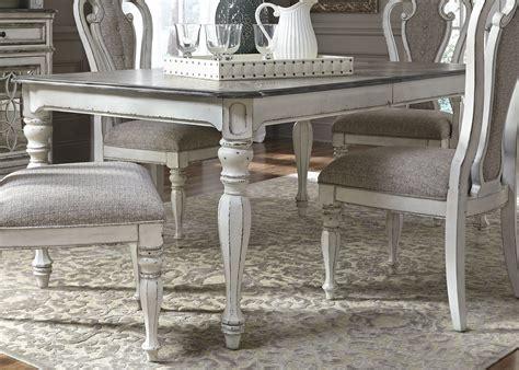 magnolia manor antique white  extendable rectangular