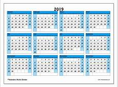 Kalender 2019 1 Download 2019 Calendar Printable with