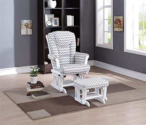 naomi home glider ottoman set naomi home deluxe multi position sleigh glider and ottoman
