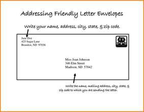 5 letter address exle ledger paper