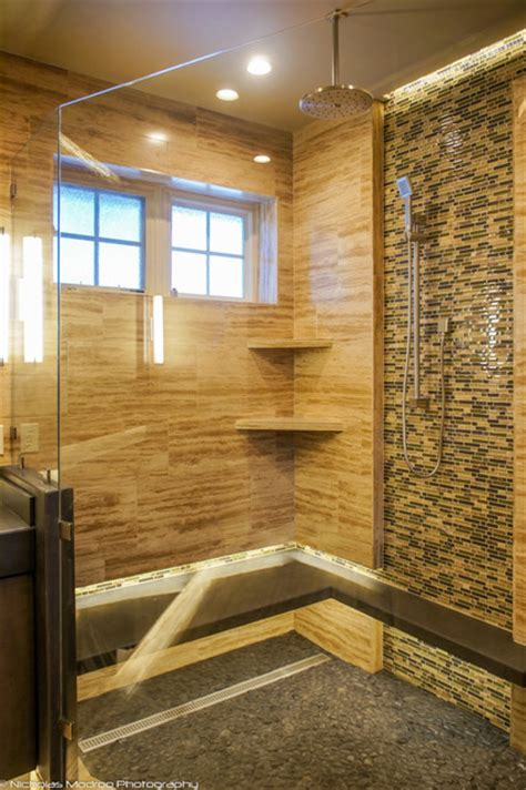 Modern Spa Bathroom by Modern Spa Like Master Bath Makover Contemporary