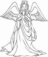 Coloring Angels Pages Angel Adults 88d Wsr sketch template