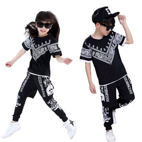 Summer Children Hip Hop Style Clothing Sets Boys Girls Fashion Casual 3pcs Suits Kids Clothes ...
