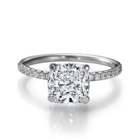 f vs2 cushion cut enhanced diamond engagement ring 1 76 ct 14k white gold ebay