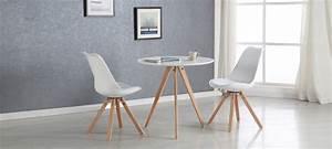 Table à Manger Blanche : table ronde blanche plateau 80 cm ~ Teatrodelosmanantiales.com Idées de Décoration