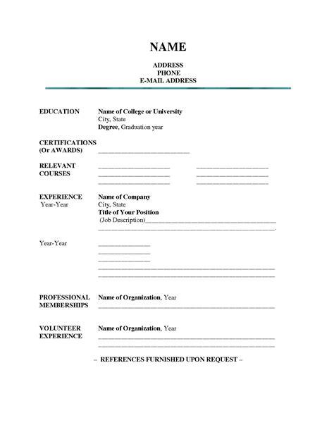 blank resume templates  students resume builderresume