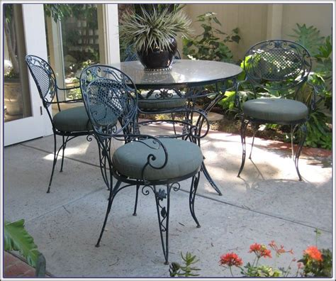 Iron Patio Furniture by White Wrought Iron Patio Furniture Sets Home Design