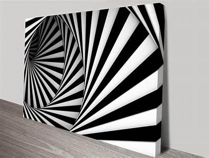 Circular Abstract Stairs Canvas Artwork Australia