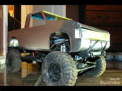 homemade truck body homemade rc body nissan hardbody crawler pickup tr youtube