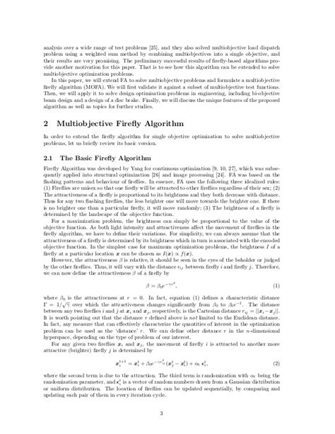 Multiobjective Firefly Algorithm for Continuous Optimization