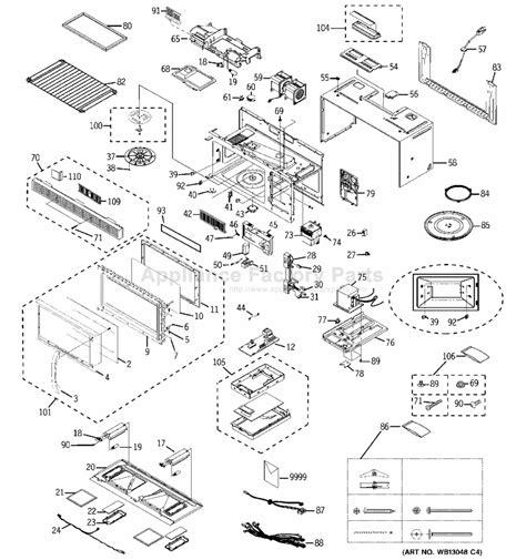 Ge Wiring Schematic Jvm 2 by Ge Jvm1440wh01 Parts Microwaves