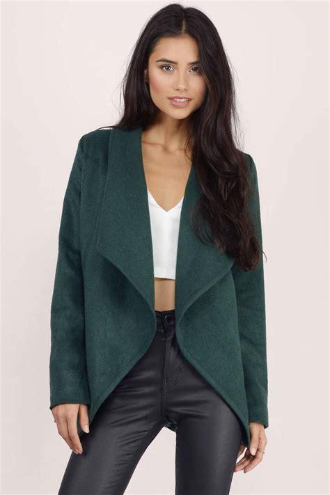 green jacket draped jacket forest green jacket 24 - Draped Coats