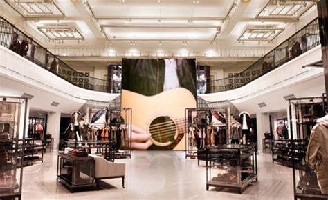 digitally enhanced  burberry flagship store london
