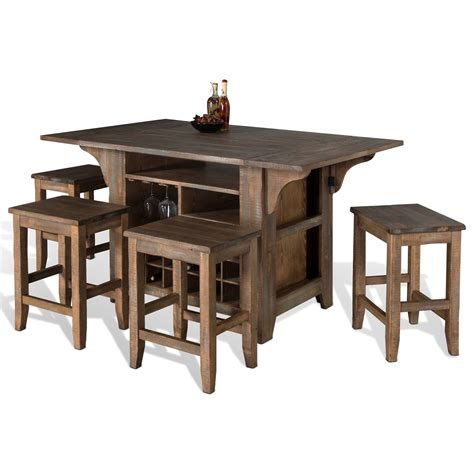 kitchen island with drop leaf table sunny designs puebla 5 piece kitchen island with drop