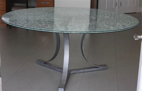 crackle glass table crackle glass dining table with tripod metal base 2978