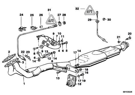 Bmw E30 Part Diagram by Original Parts For E30 318i M40 2 Doors Exhaust System