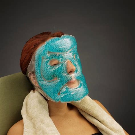 Amazon.com: TheraPearl Face Mask, Reusable Hot Cold