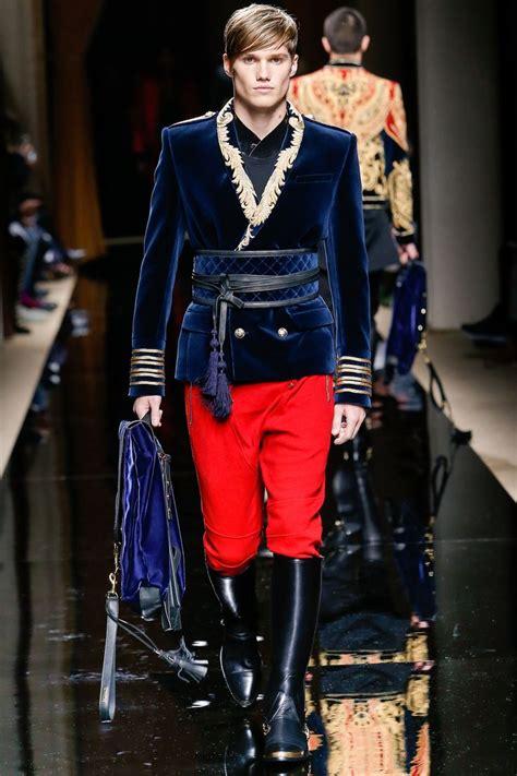 balmain fall  menswear fashion show uniform
