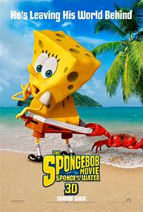 Spongebob Original Double Sided Movie Poster 27 X 40
