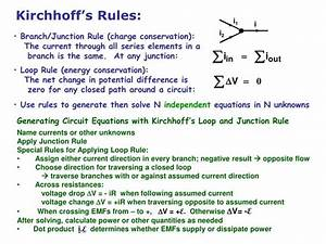 PPT - Kirchhoff's Rules Multi-Loop Circuit Examples RC ...