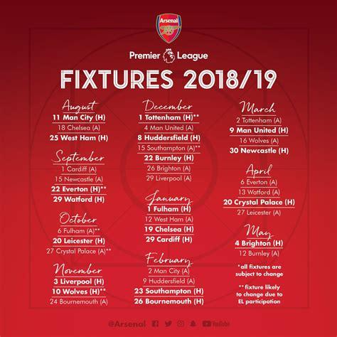 released english premier league  fixtures