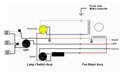 ceiling fan electrical schematic   wiring