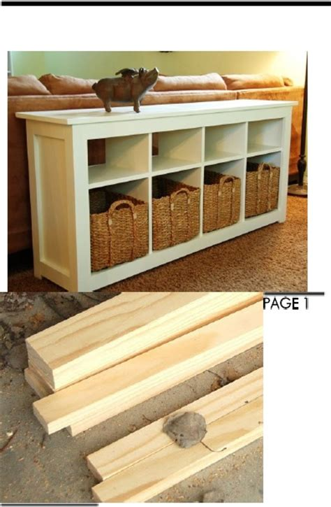 build a sofa table step by step instructions on how to build this bookcase