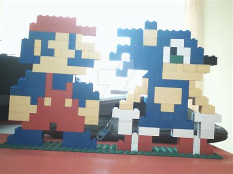 Lego Mario And Sonic By Angus-nitro On Deviantart