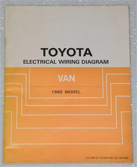 Toyota Van Mini Wagon Electrical Wiring Diagrams
