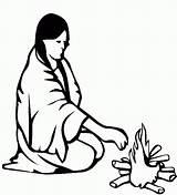 Indianer Indios Indiaan Ausmalbilder Dibujos Kleurplaten Indianen Malvorlagen Coloring Colorear Kolorowanki Indianie Native Kleurplaat Kampvuur Bij Indiens Americanos Imagenes Az sketch template